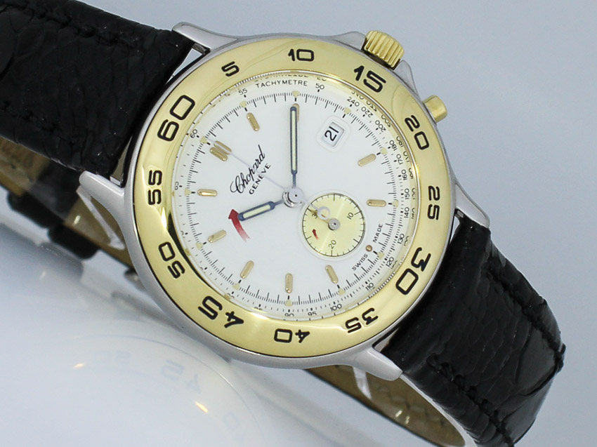 chopard mille miglia lady chronograph 31mm gold stahl. Black Bedroom Furniture Sets. Home Design Ideas